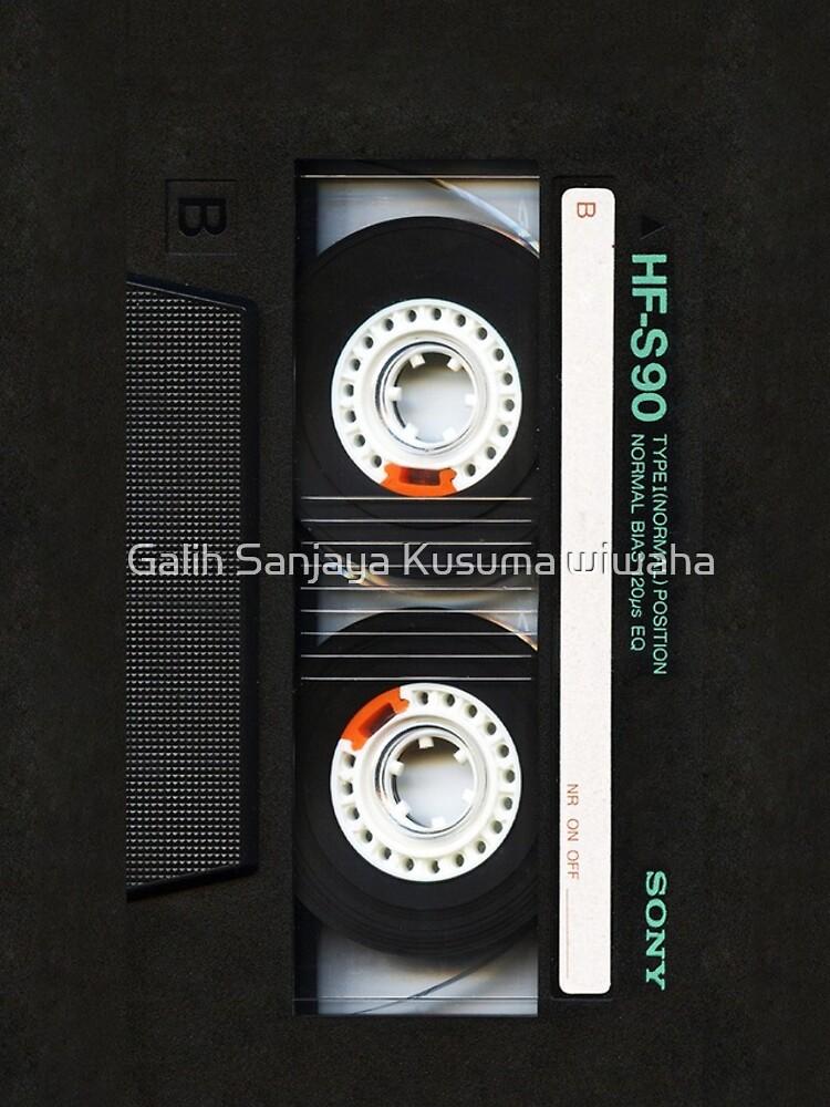 Classic retro Black cassette tape by GalihArt