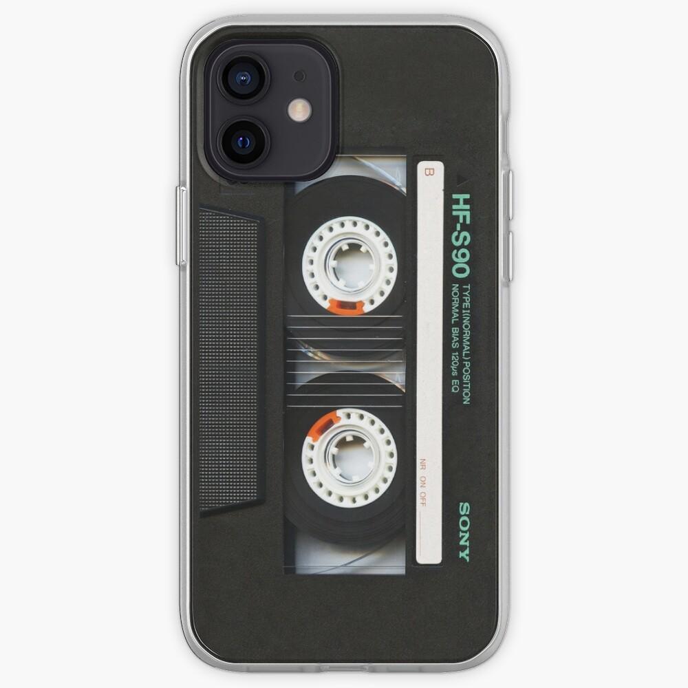 Classic retro Black cassette tape iPhone Case & Cover