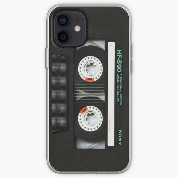 Classic retro Black cassette tape iPhone Soft Case