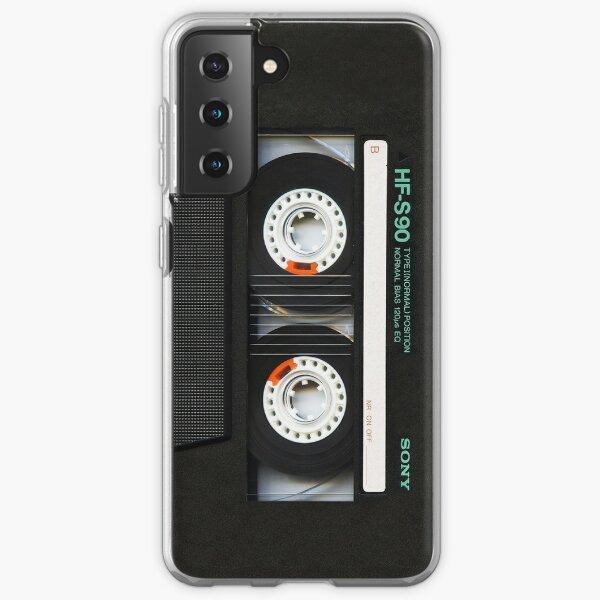 Cinta de cassette negra retro clásica Funda blanda para Samsung Galaxy