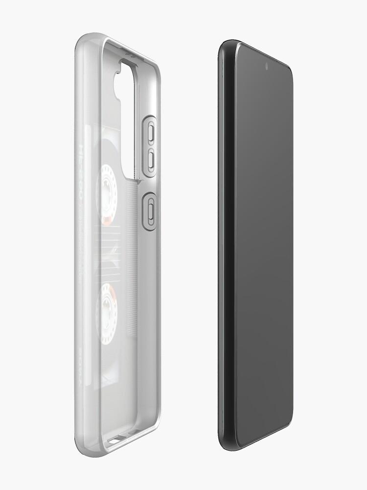 Alternate view of Classic retro Black cassette tape Case & Skin for Samsung Galaxy