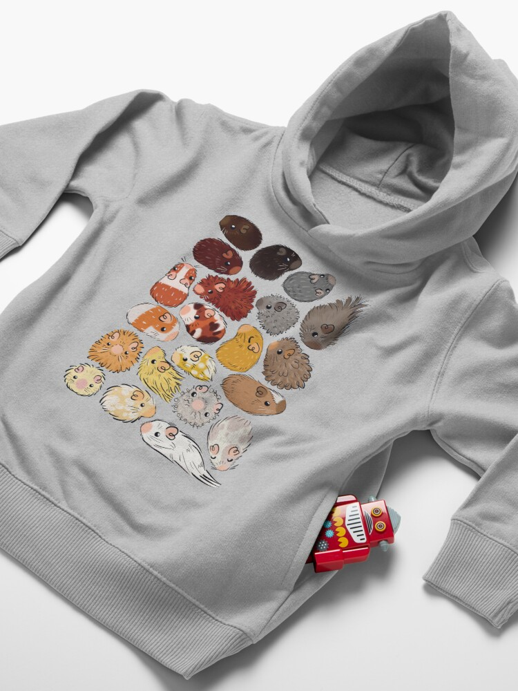 Alternate view of Guinea Pig Gradient Toddler Pullover Hoodie