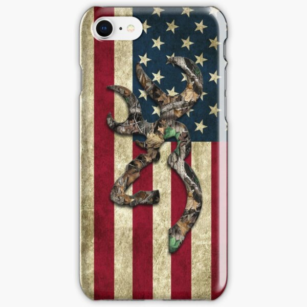 Browning Deer Camo American Flag iPhone Snap Case