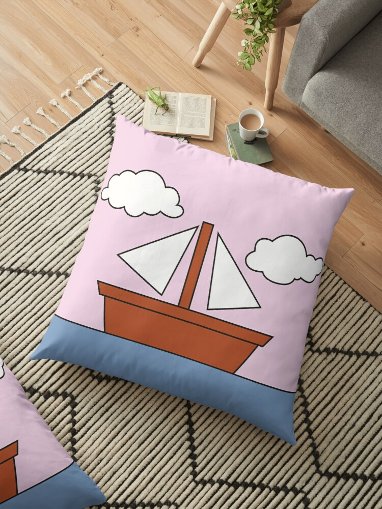 \'The Simpsons Living Room Boat Picture Pink Version\' Floor Pillow by  FanaToonic