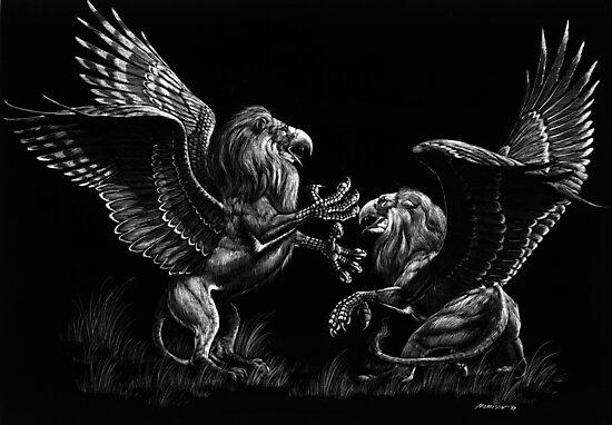 Warring Griffons by Stanley Morrison