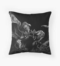 Warring Griffons Throw Pillow