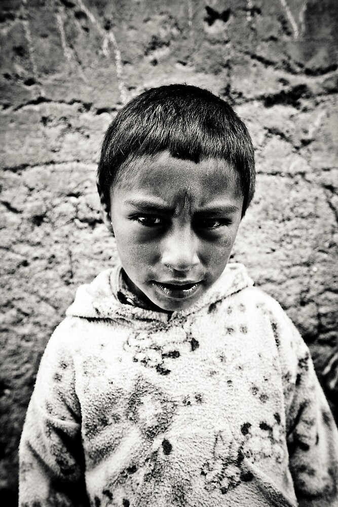Peruvian kid by escupitajo