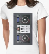 DJ Turntables Women's Fitted T-Shirt