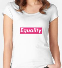 Equality Supreme Box Logo Parody Women's Fitted Scoop T-Shirt