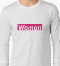 Woman Supreme Box Logo Parody Long Sleeve T-Shirt