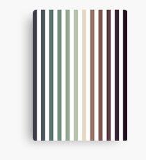 vertical stripes - autumn color striped pattern Canvas Print