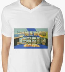 Greetings From New Jersey Men's V-Neck T-Shirt