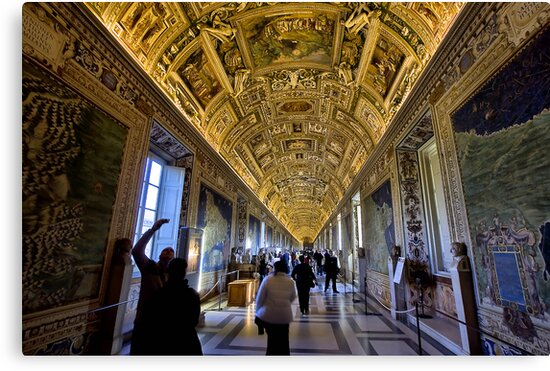 Hall of Maps - Vatican City by Paul Louis Villani