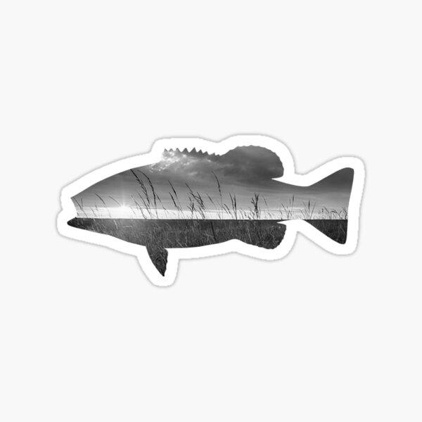 Landscape Fish Silhouette Sticker