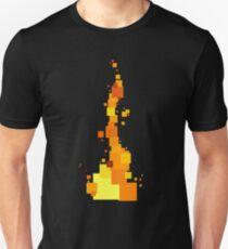 Rectangular Fire Unisex T-Shirt