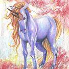 Ferocious Purple Unicorn by lysswhitart