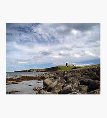Dunstanburgh rocks Photographic Print