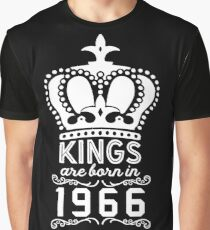 Birthday Boy Shirt - Kings Are Born In 1966 Graphic T-Shirt