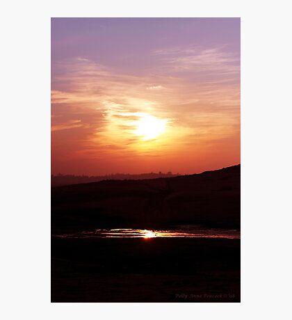 Sunset Reflective Pool Photographic Print