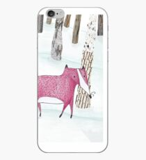 A mom fox with her child iPhone Case