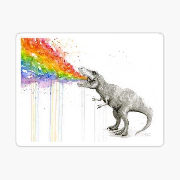 T-Rex Rainbow Puke  Sticker