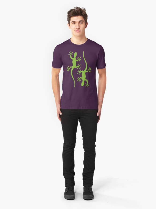 Alternate view of Two green geckos Tee Slim Fit T-Shirt