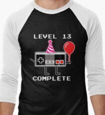 Level 13 Complete, 13th Birthday Gift Idea Men's Baseball ¾ T-Shirt