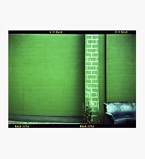 Blue Couch Green Wall Photographic Print