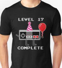 Level 17 Complete, 17th Birthday Gift Idea Unisex T-Shirt