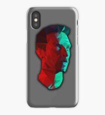 Chris Martin low poly portrait iPhone Case/Skin