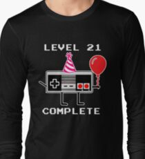 Level 21 Complete, 21th Birthday Gift Idea Long Sleeve T-Shirt