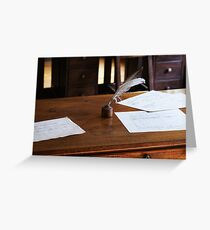 quill and paper Greeting Card