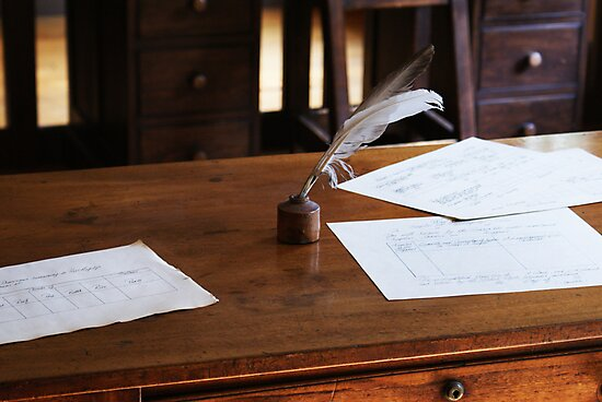 quill and paper by Jennifer Finn