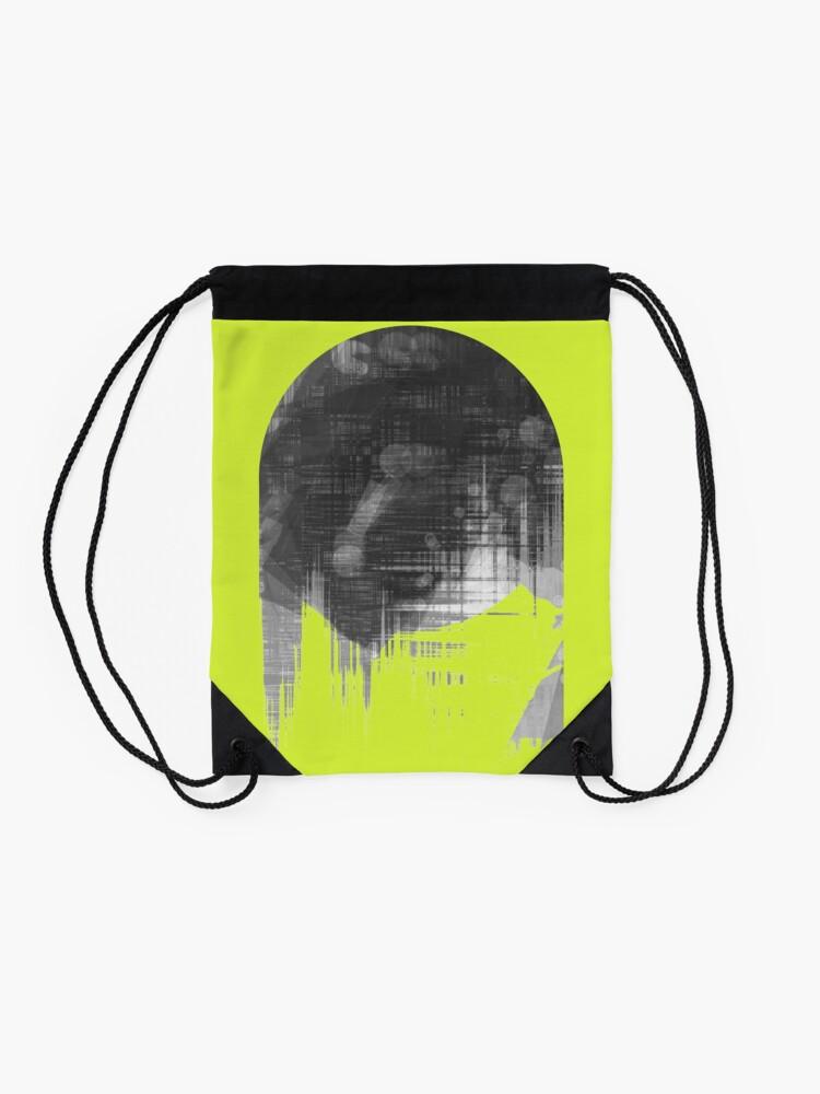 Alternate view of Analog Sunset Drawstring Bag