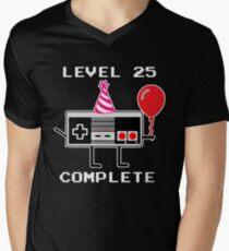 Level 25 Complete, 25th Birthday Gift Idea Men's V-Neck T-Shirt