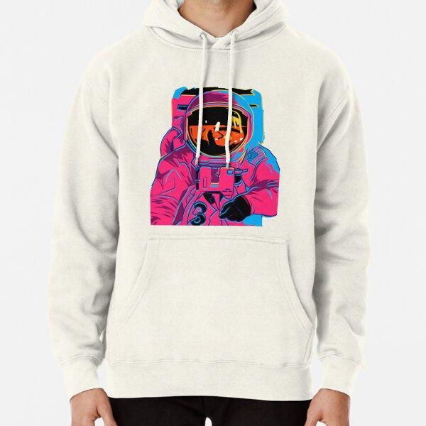Trippy rainbow Astronaut Pullover Hoodie