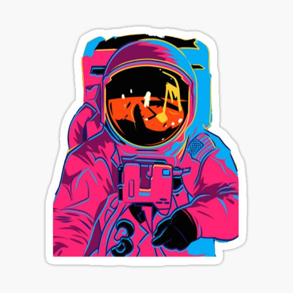 Trippy rainbow Astronaut Sticker