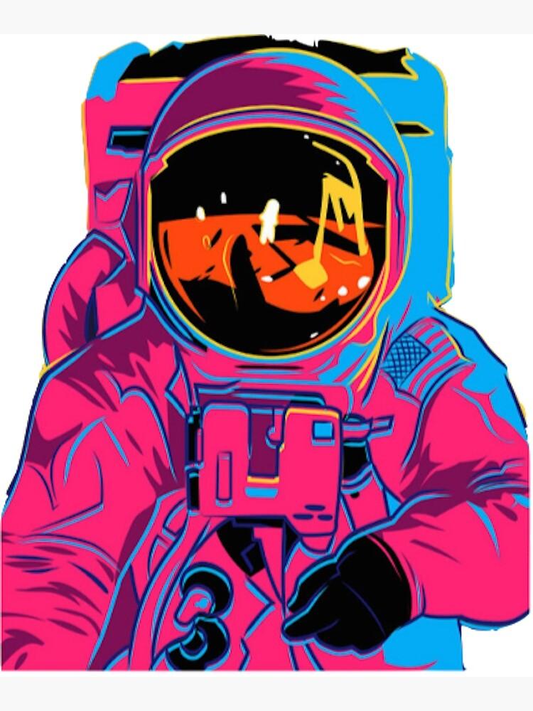 Trippy rainbow Astronaut by xxxlemonade