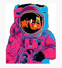 Trippy Regenbogen Astronaut Fotodruck