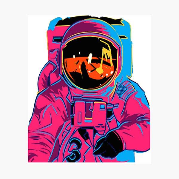 Trippy rainbow Astronaut Photographic Print