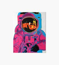 Trippy rainbow Astronaut Art Board Print