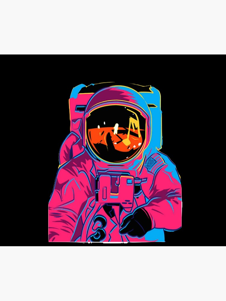 Trippy rainbow Astronaut by xxxlemonade