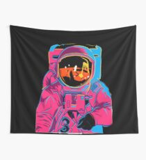 Trippy rainbow Astronaut Wall Tapestry