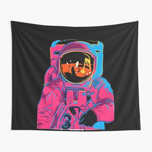 Trippy rainbow Astronaut Tapestry