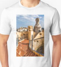 Gaudi's Fascinating Rooftop – Impressions Of Barcelona Unisex T-Shirt
