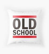 OLD SCHOOL Black Throw Pillow