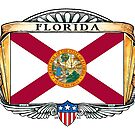 Florida Art Deco Design with Flag by Cleave