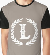 Beige Monogram: Letter L Graphic T-Shirt