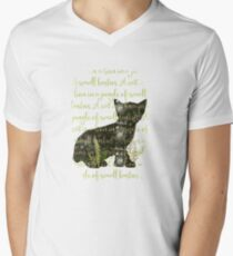 A cat is a lion in a jungle of small bushes Mens V-Neck T-Shirt