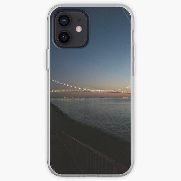 Sunset, Night, Water, Bridge iPhone Soft Case